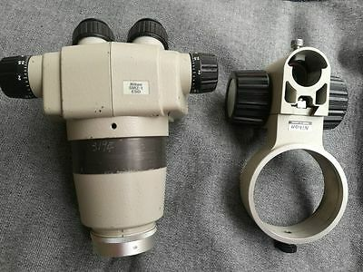 NIKON SMZ-1 ESD Microscope Body +0.7X Objective+Nikon 15X/14 eyepieces+Holder
