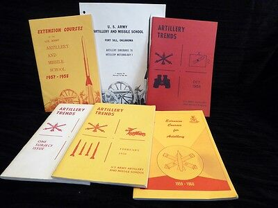 Lot Of 1950's Us Army Artillery And Missile School Publications
