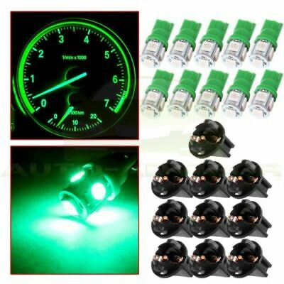 10x T10 W5W 158 168 194 501 5SMD LED Car Wedge Dashboard Light Bulb Lamp Green