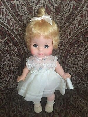 """Madame Alexander 12"""" Vintage Janie Doll With Tag Her Head Is Dislodged"""