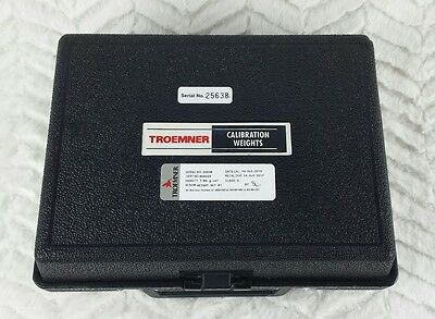 Troemner 2kg 2000 gram Calibration Weight Class 3 in Case calibrating balance