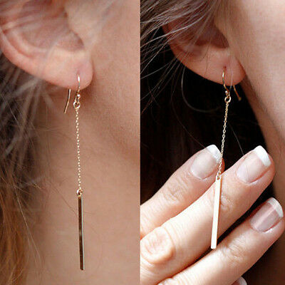 Simple Fashion Punk gothic Earrings Long Chain gold color