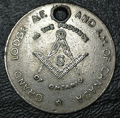 1955 GRAND LODGE AF & AM OF CANADA Province of Ontario 100th ANNIVERSARY TOKEN