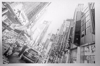 Original Pencil Sketch of New York on paper by Paul Cadden