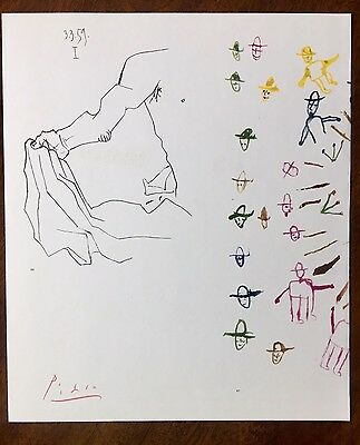 Pablo Picasso Original Hand Signed Lithograph Print Ltd.Ed. of 100 | COA