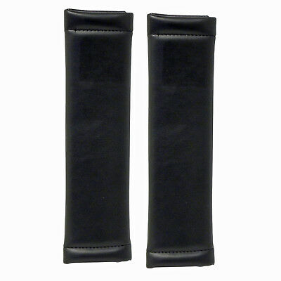2 x Autocare Car Seat Belt Covers - Leather Look Black - Harness Shoulder Pads
