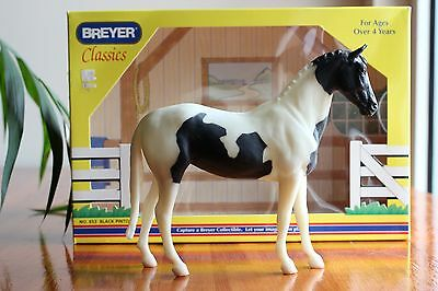 Breyer Classics Collectible Model Horse No. 653 Black Pinto with box
