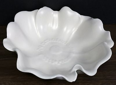 Vintage white flower petal bowl by Stangl - 10 1/2""