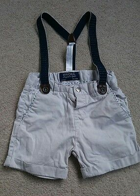 Baby boys designer Mayoral shorts with braces age 18 months 1.5 years