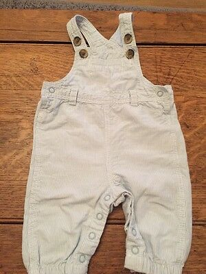H&M Pale Blue And White Dungarees 1-2 Months