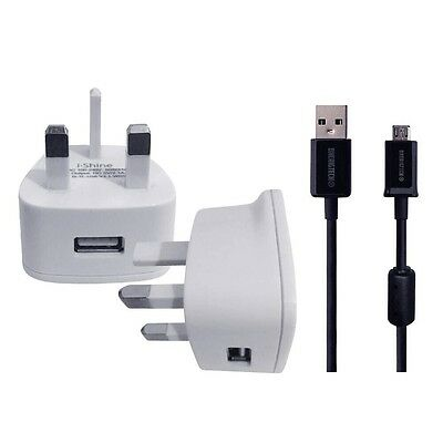 WALL CHARGER & USB DATA SYNC CABLE For ACER ICONIA ONE 10 B3-A30 TABLET
