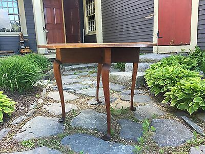 1760 AMERICAN Mass Rhode Island Queen Anne Period Maple Drop Leaf Table