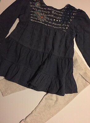 Baby Girl Navy Long Sleeve Dress + Leggings NEXT 12-18 Months