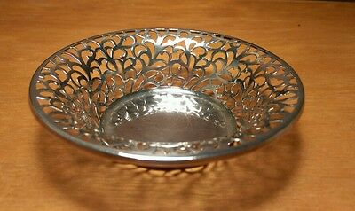 Round Silver Decorative Filligrie Candy/Nut dish