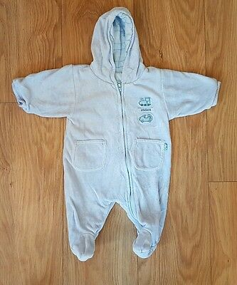 baby boys 0-3 month snowsuit pramsuit mothercare