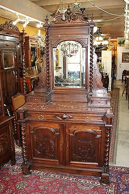 Beautiful French Antique Louis XIII Walnut Marble Top Dresser.