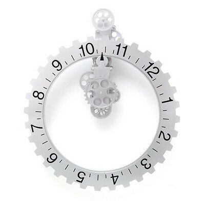 Vintage Big Wheel Gears Clock Wall Art For Home Office Punk Style Moving Decor