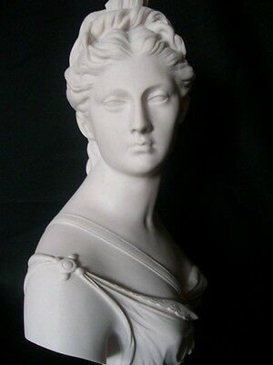 English Made Marble Bust Of Artemis~ Diana The Huntress