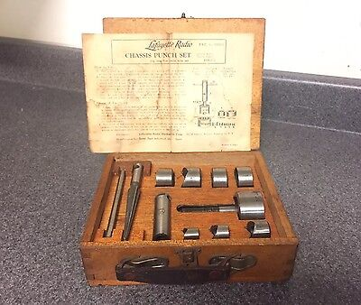 Vintage Lafayette / Shark Chassis Punch Set No. 110-E Sanki Tool Screw Type