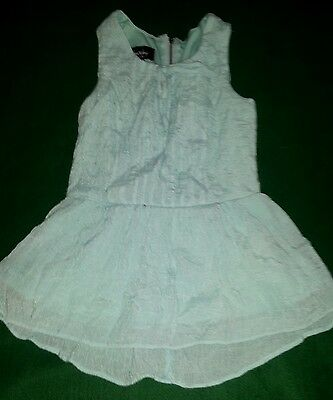girls blue 'By & By' sleeveless lined dress size S 7/8