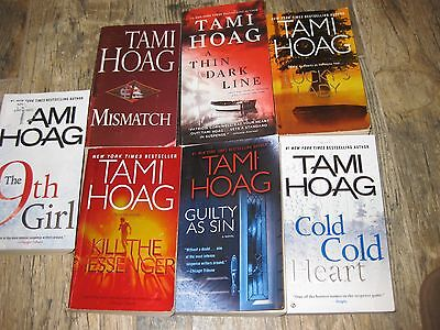 Lot Of 7 Tami Hoag Suspenseful/crime Paperback Books~Nice Condition