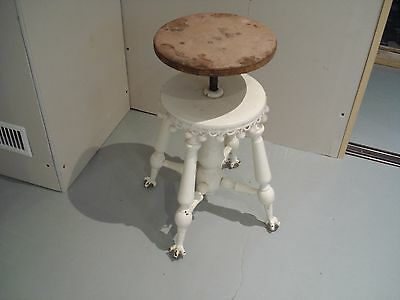 antique otterville glass ball claw feets piano stool 1890 approx
