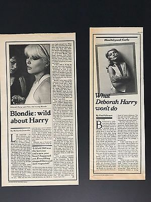 """BLONDIE DEBBIE HARRY Late 70's Two Clippings 5X13.5"""""""