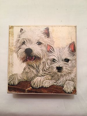 West Highland White Terrier Ceramic Coasters....good Condition