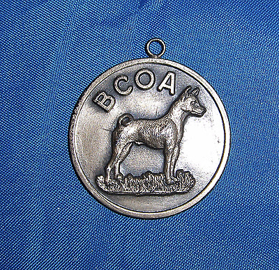 Rare Sterling Silver Medallion Basenji Club of America ca. 1960