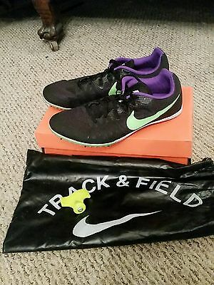 Mens Nike Zoom Rival M8 track/field spikes size 10