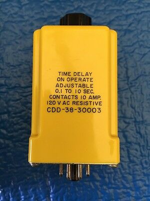 Potter & Brumfield Time Delay Relay CDD-38-30003 DPDT 10A 24 VDC