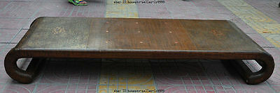 "45"" old chinese Lacquerware huanghuali wood palace play Chess Board Tables Desk"