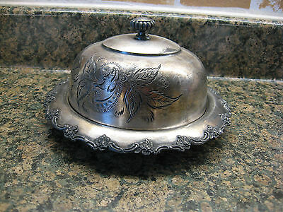 """Antique Silverplate Covered Butter Dish,""""Toronto S.P. Company"""""""
