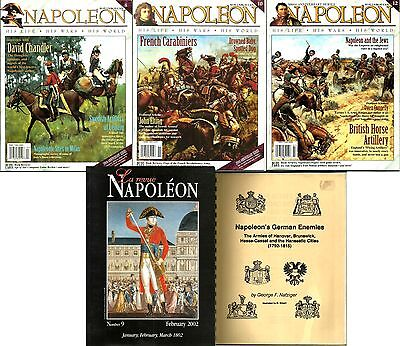 Napoleonic Periodical Bundle. 5 RARE mags and books. All New and mostly Mint!
