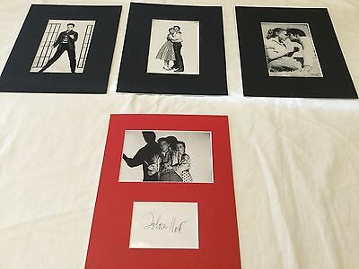"Dolores Hart hand signed matted to fit 8""x10"" + 3 Unsigned Elvis Presley Movies"