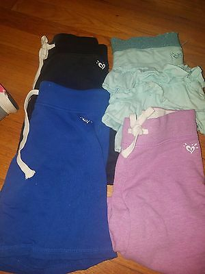girls size 8 justice shorts and skirt