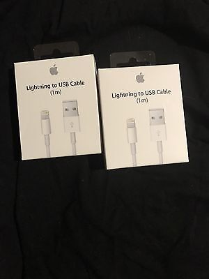 2-PACK New iPhone 6 7 5s SE Lightning USB Data Cable Charger - 3 ft