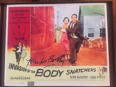 KEVIN McCARTHY SIGNED INVASION OF THE BODY SNATCHERS 8x10 PHOTO POSTER 2 COA'S