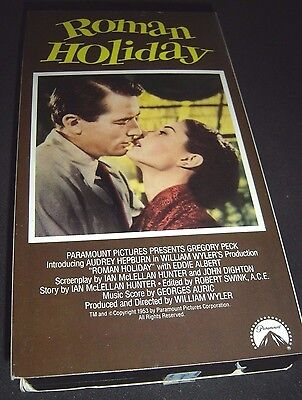 Roman Holiday (VHS, 1990) Gregory Peck Audrey Hepburn