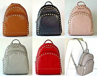 Michael Kors Abbey Medium Frame Out Stud Leather Backpack NWT$398.00