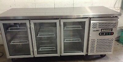 BROMIC  Mobile Commercial RESTAURANT Cafe Bar PIZZA UNDER BENCH 3 DOOR FRIDGE