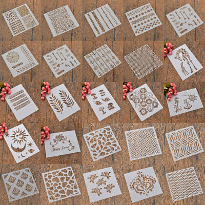 Letter Number DIY Draw Layering Stencils Scrapbooking Template Embossing Craft