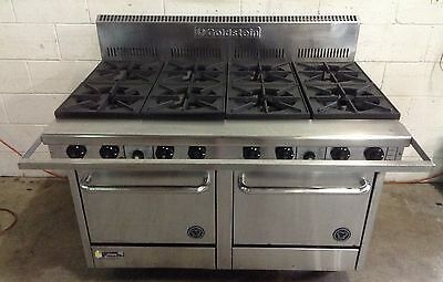 GOLDSTEIN COOKING/ BOILING Gas 8 BURNER Twin Oven Range Stove