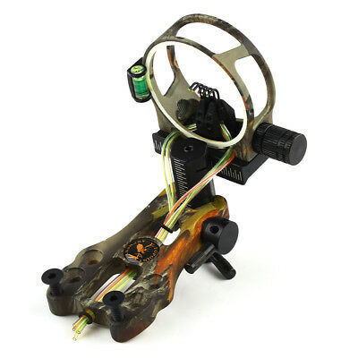 Camo 5 Pin .019 Fiber Optic Lighted Compound Bow Machined Sight Light LS-3