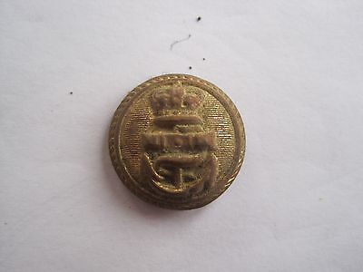 ROYAL NAVY OFFICERS ROPED RING BUTTON /18th/19thC (UK Metal Detecting Find)