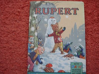 1962 Rupert Annual - Price Unclipped  (Some Magic Paintings Uncoloured)