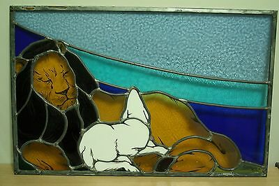 "Stained Glass Window (Grenville Christian College) ""Lion"""