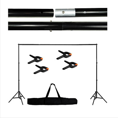 Background Support Stand Telescopic Photography Aluminum 10Ft Adjustable