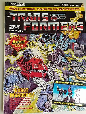 Extremely rare G1 Marvel Transformers Comic #1 WITH ORIGINAL TRANSFERS