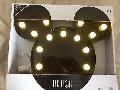 Disney Mickey Mouse LED Light New in Box